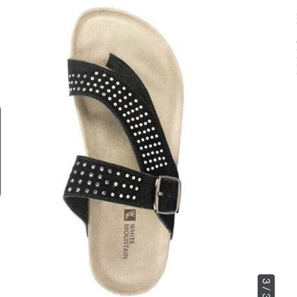 59b9c45385b644 White Mountain Sandals Coaster Cork Black Sz 9. M 5b16d324de6f62e0c8c8269b